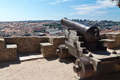 Old cannon in Castelo de Sao Jorge, Lisbon Royalty Free Stock Image