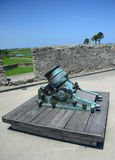 Old cannon in Castillo de San Marcos fort Royalty Free Stock Photography