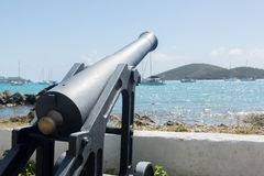 Old cannon in Charlotte Amalie St Thomas Royalty Free Stock Images