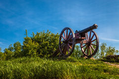 Old Cannon at Checiny castle Stock Image