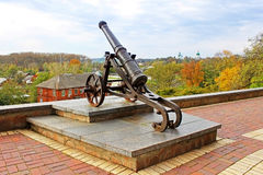 Old cannon in Chernigov Stock Photography