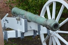 Old cannon. Close up of a old cannon Royalty Free Stock Image