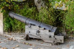 Old cannon close up stock image