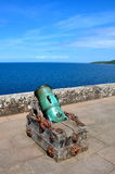 Old cannon at Culzean Castle Stock Photography