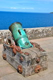 Old cannon at Culzean Castle, Ayrshire. An old cannon in the grounds of Culzean Castle, Ayrshire.  Culzean Castle is a neoclassical mansion which dates from the Royalty Free Stock Image