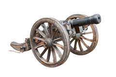 Old cannon cutout Royalty Free Stock Image