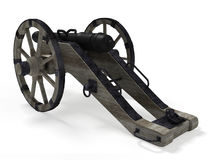 Old cannon 3D Royalty Free Stock Photo