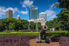 Old Cannon Defending Sydney Stock Photo