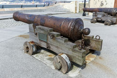 Old cannon defense Ribadeo in Lugo, Spain Stock Photography