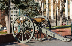 Old cannon in Denver, Colorado stock photography