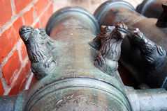 Old cannon detail in Moscow Kremlin. UNESCO Heritage Site. Stock Photography