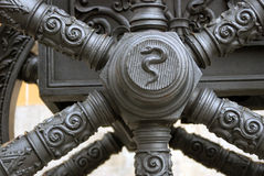 Old cannon detail in Moscow Kremlin. UNESCO Heritage Site. Stock Photo