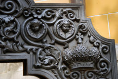 Old cannon detail. Moscow Kremlin. UNESCO World Heritage Site. Royalty Free Stock Photography