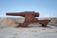 Old cannon at El Morro. #2. Old rusty cannon at El Morro fortress in Havana, Cuba. #2 stock photos