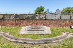 Old Cannon Emplacement at Fort Jay on Governors Island. In New York City Royalty Free Stock Photo