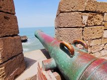 Old Cannon in Essaouira, Morocco Stock Image