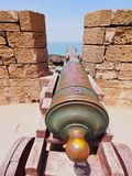 Old Cannon in Essaouira, Morocco Royalty Free Stock Images