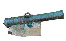 Age-old ship cannon Royalty Free Stock Photography