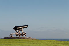Cannon. An old cannon facing out to sea Royalty Free Stock Photo