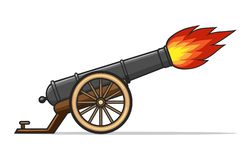 Free Old Cannon Firing Royalty Free Stock Photo - 168489505