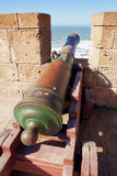 Old cannon in the fort. Facing to sea Royalty Free Stock Photography