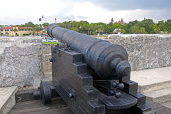 Old cannon in a fort Royalty Free Stock Photos