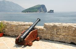 Old cannon in a fortress Budva Royalty Free Stock Image
