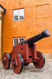 Old cannon in Helsingor Stock Photography