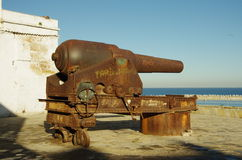 Old cannon. Stock Photo