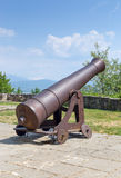 Old cannon in Ioannina castle, Greece Stock Image