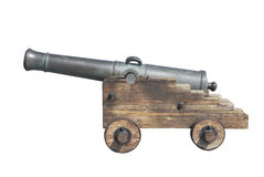 Old cannon isolated Royalty Free Stock Photo