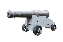 Old cannon isolated on white background Stock Photos