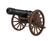 Old cannon isolated Royalty Free Stock Photography