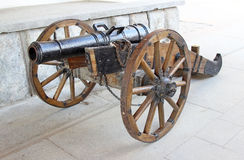 Old cannon in the Izmailovo Kremlin. In Moscow Royalty Free Stock Image