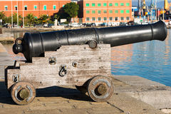 Old Cannon La Spezia Italy Stock Image