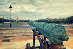 Old cannon at Les Invalides in Paris. Royalty Free Stock Photos