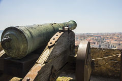 Old cannon in Lisbon, Portugal Stock Photography