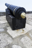 Old Cannon. At Lyme Regis, England, Dorset, England, United Kingdom Royalty Free Stock Image
