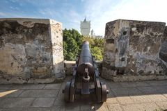 Old cannon in macao Royalty Free Stock Photo