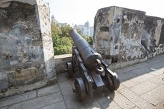 Old cannon in macao Stock Photography