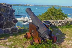 Old Cannon in Marigot, St Maarten Royalty Free Stock Photos