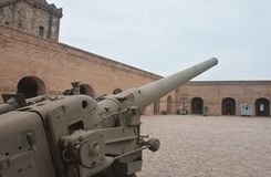 Old cannon in military museum Royalty Free Stock Photography