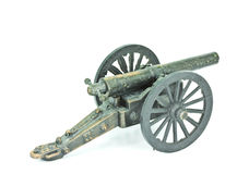 Old Cannon model. Stock Image