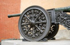 Old cannon in Moscow Kremlin. UNESCO Heritage Site. Stock Photos