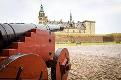 Old cannon near Helsingor castle Royalty Free Stock Photos