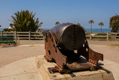 Old cannon at the park. Los Angeles, Santa Monica Royalty Free Stock Photography