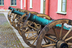 Old cannon in Peter and Paul Fortress Royalty Free Stock Photography