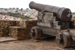 Old cannon on the ramparts. The photo shows the old cannon on the ramparts Stock Images
