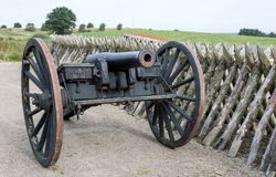 Old cannon with a rifled barrel Stock Photography