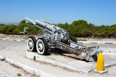 Old Cannon on Robben Island Stock Image